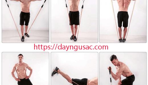 Các bài tập với Dây ngũ sắc tập gym Full Body