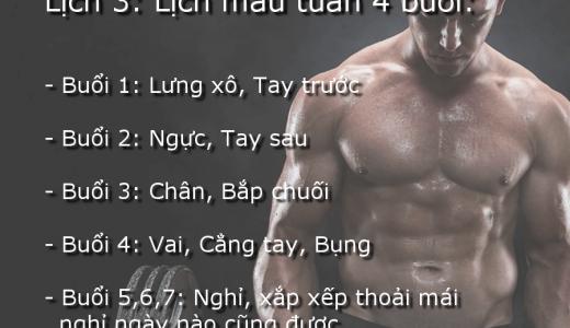 Lịch tập gym cho người gầy