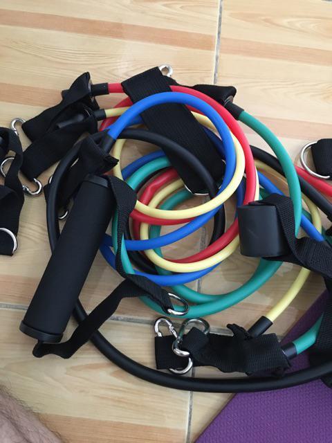 dây ngũ sắc tập gym full body