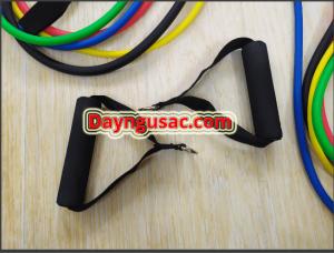 Hình ảnh dây ngũ sắc tập gym đàn hồi kháng lực