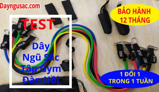 Test dây ngũ sắc tập gym trước khi gửi cho khách