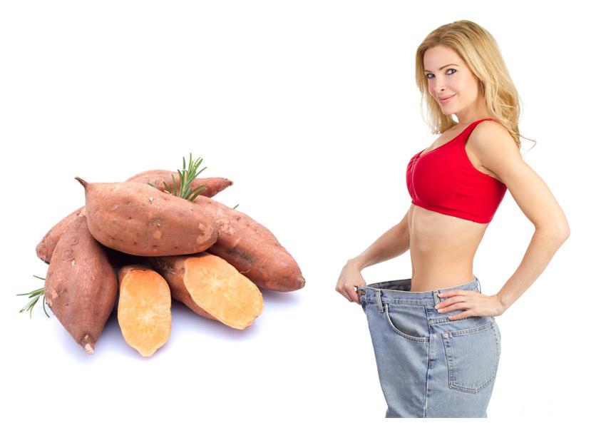 Thực đơn giảm cân với khoai lang an toàn, hiệu quả